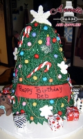 Celebrate your Birthday with an Beautifuly Detailed Holiday Birthday Cake.