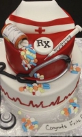 Celebrate your Students Graduation with a rn graduation cake.
