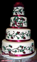 Celebrate your Wedding with an Themed White Wedding Cake with Wine Vines