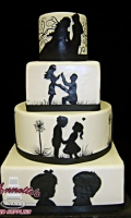 Celebrate your Wedding with an Unique Romantic Silhouette Cake