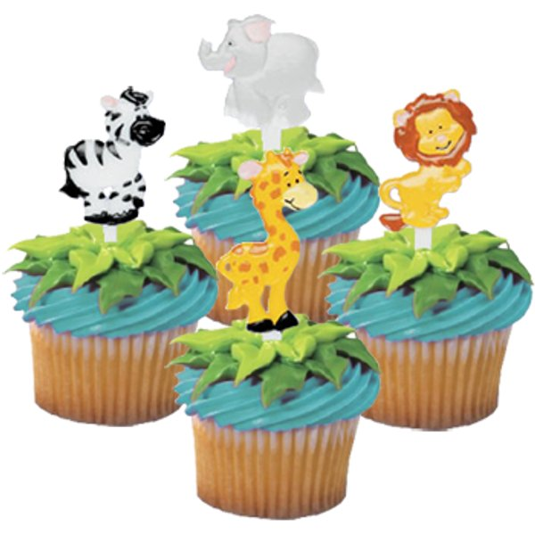Jungle Safari Zoo Animal Cupcake Decorating Picks Annette s Cakes and Cake Decorating Supplies