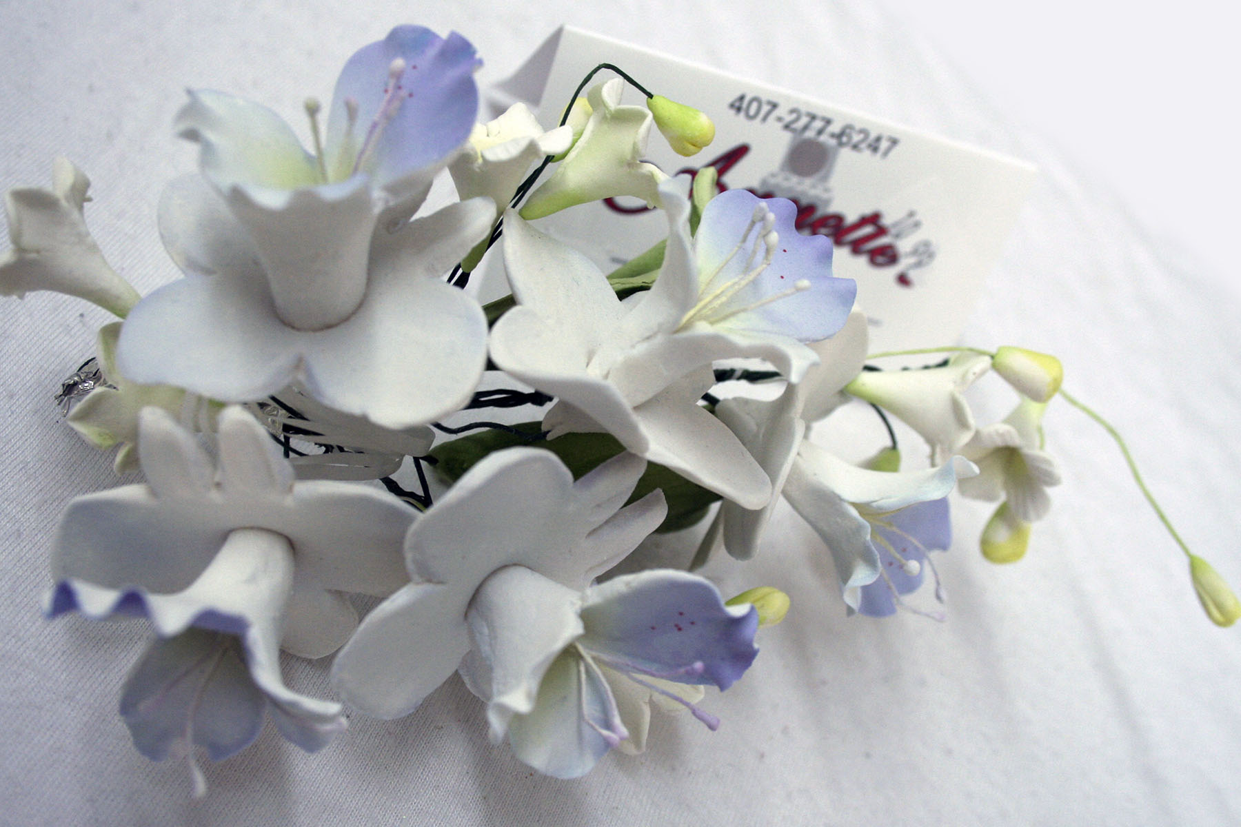 Gumpaste flowers blue large gumpaste flower cluster blue trumpet blossoms izmirmasajfo