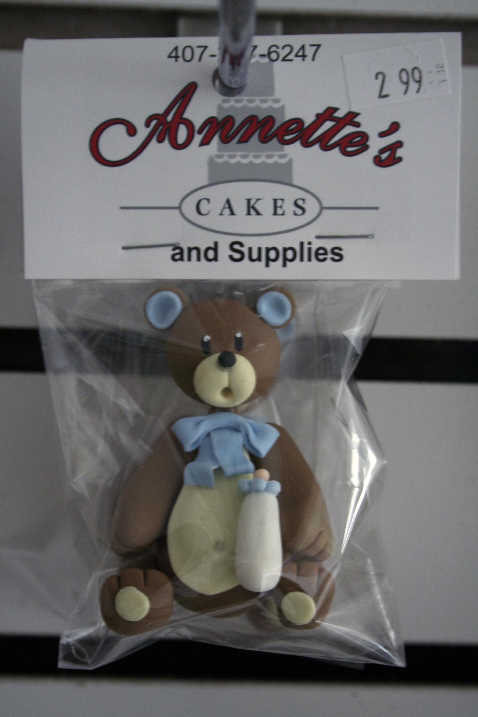 Porcelain bear topper cold porcelain teddy bear 3 small blue thecheapjerseys Gallery