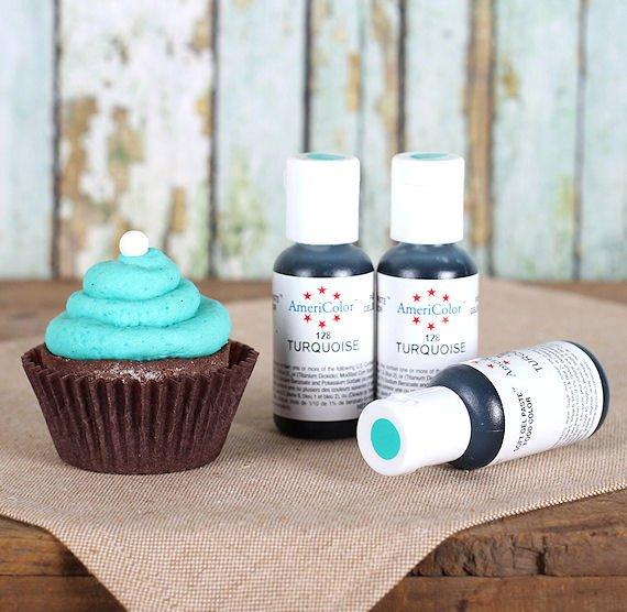 AmeriColor- Turquoise .75 oz Gel Paste Food Color   Annette\'s ...