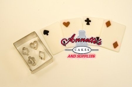 Bicycle Cutter Cake Decorating : Playing Cards Cutter Card Annette s Cakes and Cake ...