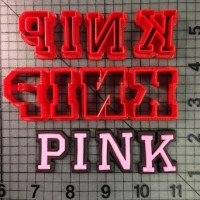 High Fashion PINK Logo is shown along with intended result.