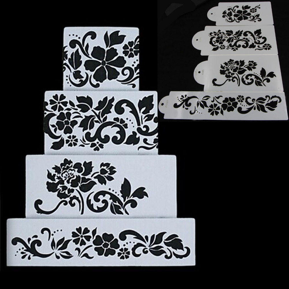 4 Fondant Decorating Cake Stencil Annette s Cakes and ...
