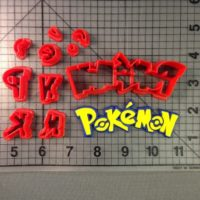 Pokemon Logo cutter is shown along with intended result.