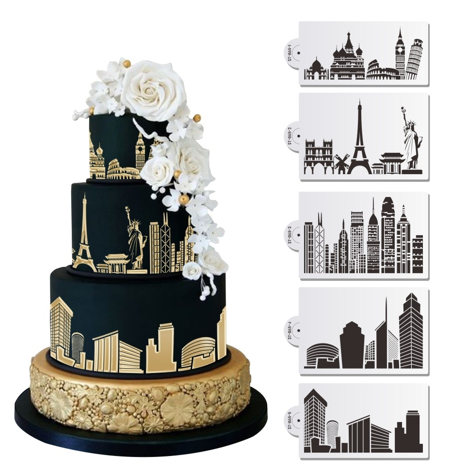 City Skyline 2 Cake Stencil | Annette\'s Cakes and Cake Decorating ...