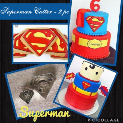 M Superman S Cutter Set is shown along with intended result.