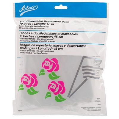 "Ateco Soft Disposable Decorating Bags 18"" are shown"