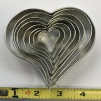 8ct Heart Cutter Set is shown