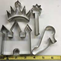 Princess Themed Cutter Set Pieces, which include a castle, a crown, a staff, and a heel, is shown