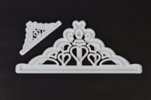 Plastic tiara cutter crown cutter set of 2 are shown