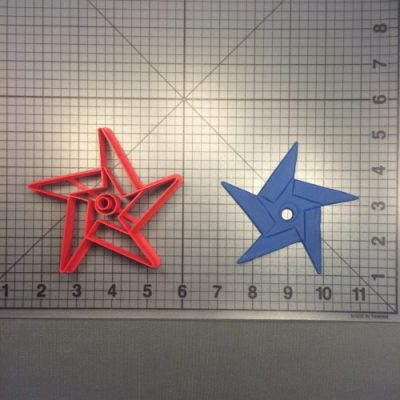 "Ninja Star 101 2"" Cookie Cutter is shown along with intended result."