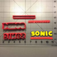 Sonic the Hedgehog Logo cutter is shown along with intended result.